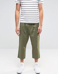 Укороченные брюки слим цвета хаки ASOS - Хаки