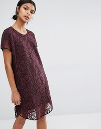 Y.A.S Cona Lace Dress - Фиолетовый