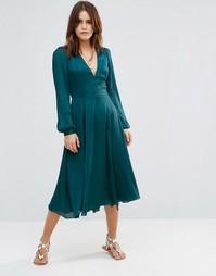 Платье миди The Jetset Diaries Chameleon - Темная морская волна