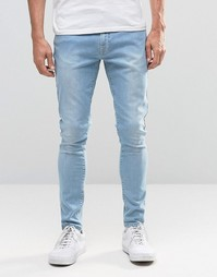 Brooklyn Supply Co Raw Hem Pocket Jeans In Light Cast Wash - Светлый