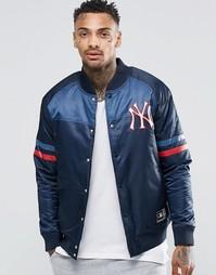 Атласная куртка Majestic Yankees - Темно-синий