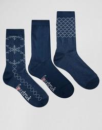 3 пары носков с кружевным узором Lovestruck - Синий