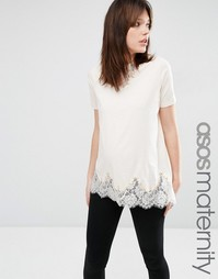 Удлиненная футболка для беременных ASOS Maternity - Blush