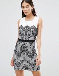 Платье с кружевной отделкой Parisian
