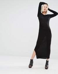 Платье с каскадной драпировкой сзади Cheap Monday - Черный