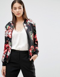 Куртка-пилот с цветочным принтом Parisian - Черный