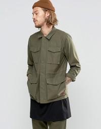 Зеленая саржевая куртка‑рубашка Vans Exeter VA2YOOKCZ - Зеленый