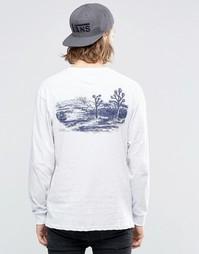 Белый лонгслив с принтом Vans Joshua VA2YQNOHC - Белый