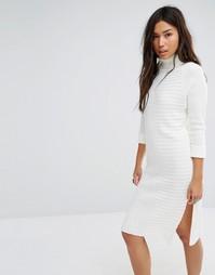 Трикотажное платье‑джемпер с отворачивающимся воротником Boohoo