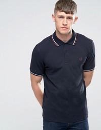 Темно-синяя футболка‑поло с контрастной отделкой Fred Perry