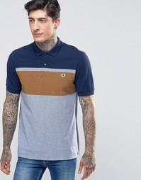 Синяя футболка‑поло с полоской на груди Fred Perry - Графитовый синий