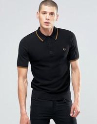 Черная футболка‑поло с контрастной отделкой Fred Perry - Черный