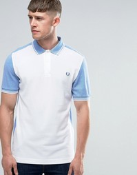 Белая футболка-поло с контрастной вставкой Fred Perry - Белый