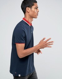 Celio Slim Fit Polo with Contrast Collar - Темно-синий
