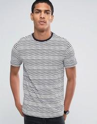 Celio Crew Neck Stripe T-shirt - Marine