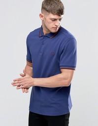 Синяя футболка‑поло с контрастной отделкой Fred Perry