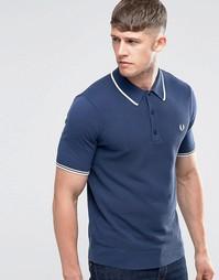 Синяя футболка‑поло с контрастной отделкой Fred Perry - Синий