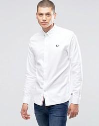 Белая оксфордская рубашка слим с логотипом Fred Perry - Белый