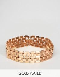Позолоченный массивный браслет Pilgrim - Золотой