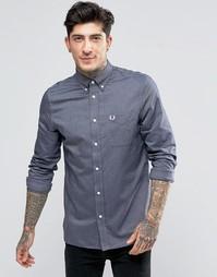 Оксфордская рубашка узкого кроя с карманом Fred Perry - Dk crb