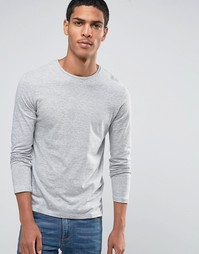 Celio Slim Fit Long Sleeve Top - Серый