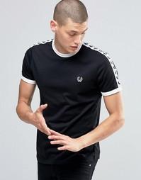 Черная футболка Fred Perry Ringer - Черный