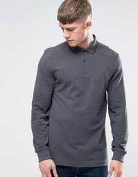 Меланжевая футболка‑поло с длинными рукавами Fred Perry - Graph ml