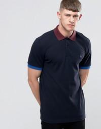 Темно-синяя футболка-поло с контрастной отделкой Fred Perry