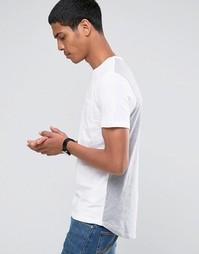 Двусторонняя хлопковая футболка с круглым вырезом Celio
