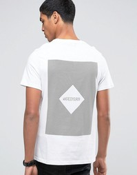 Celio Crew Neck T-shirt with Front and Back Print - Белый