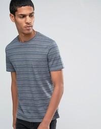 Celio Crew Neck T-shirt with Printed Stripe - Темно-синий