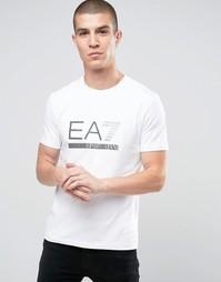 Белая футболка с логотипом Emporio Armani EA7 - Белый