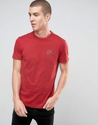 Красная футболка с логотипом на груди Emporio Armani EA7 - Красный