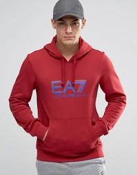 Красное худи с логотипом Emporio Armani EA7 - Красный