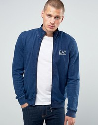 Трикотажная куртка на молнии Emporio Armani EA7 - Indigo - индиго