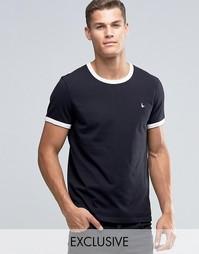 Черная футболка классического кроя Jack Wills Ringer - Черный