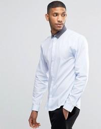 Рубашка с контрастным воротником Lindbergh - Синий