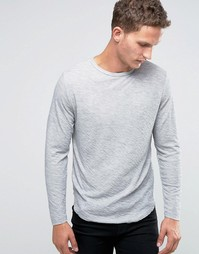 Лонгслив Selected Homme - Светло-серый