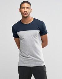 Серая футболка в стиле колор блок Lindbergh - Серый