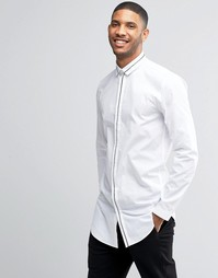 Рубашка с контрастной отделкой Lindbergh - Белый