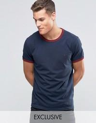 Темно-синяя футболка классического кроя Jack Wills Ringer
