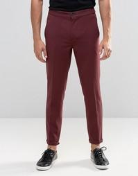 Бордовые укороченные повседневные брюки Lindbergh - Bordeaux