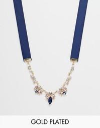 Эффектное ожерелье с лентой Johnny Loves Rosie Belle - Belle statement
