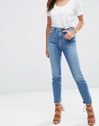 Синие джинсы из стираного денима в винтажном стиле ASOS FARLEIGH