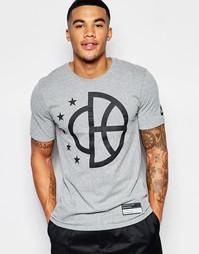 Серая футболка с принтом Nike 806953-091 - Серый