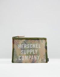 Большой пенал из сеточки с камуфляжным принтом Herschel Supply Co Netw