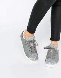 Кроссовки с блестками Missguided - Серый