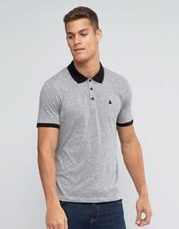 Серая облегающая футболка-поло из фактурной ткани с логотипом ASOS