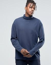 Трикотажный свитер с отворачивающимся воротником ADPT - Ирис