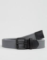 Плетеный пояс с черной окрашенной пряжкой ASOS - Угольный